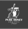 vintage honey label vector image vector image