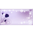 Whimsical Purple Background vector image