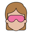 woman with sleeping mask vector image vector image