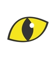 yellow eye cat staring icon vector image