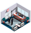 3d isometric interior of vector image