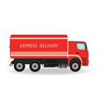 express delivery service car transportation vector image