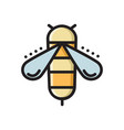 honey bee colorful thin line flat style icon vector image
