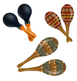 Set of maracas vector image