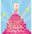 Beautiful princess and fairy vector image