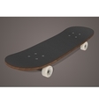 Stylized skateboard vector image