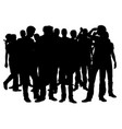 a crowd vector image vector image