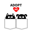 adopt me dont buy dog cat in pocket pet vector image vector image