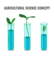 Agricultural science concept showing sprout in vector image vector image