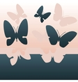 background with flying butterflies vector image vector image