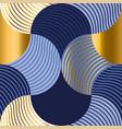 blue geometric wallart seamless motif vector image vector image