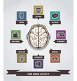 brain activity infographics vector image vector image