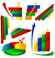 business chart icon vector image