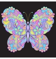 butterfly on black background vector image