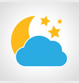 cloudy night icon vector image vector image