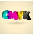 CMYK letters design art vector image