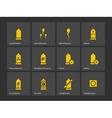 Condom and spermatozoid icons vector image