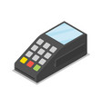 credit card pos terminal isometric 3d icon vector image vector image