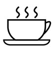cup of hot tea vector image