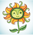 cute friendly eco flower 2 vector image