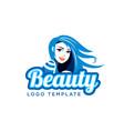 cute girl beauty salon logo template