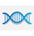 DNA molecule sticker Design element vector image vector image
