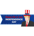 donald trump independence day vector image vector image