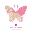 doodle circle texture butterfly silhouette pattern vector image vector image