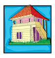 ecological country house retro vector image vector image