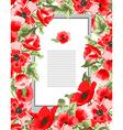 elegant floral card vector image vector image