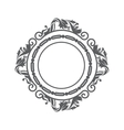 elegant frame decorative icon vector image vector image