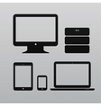Flat design ui device icons collections on light vector image vector image
