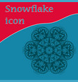 flat icon snowflake-like design hand-made vector image vector image