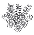 floral rustic design vector image vector image
