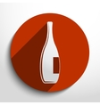 glass bottle web icon vector image vector image