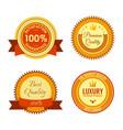 golden round reward seals collection vector image vector image