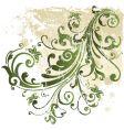 grunge floral design element vector image vector image