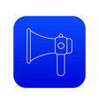 hand speaker icon blue vector image vector image