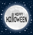 happy halloween on a moonlight background in a vector image
