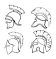 helmets2 vector image vector image