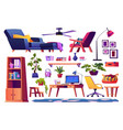 home workplace and office interior design elements vector image