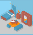isometric interior bedroom vector image