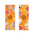 kitchen utensil banner vector image vector image