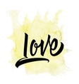 Love Calligraphy Lettering T-shirt vector image vector image