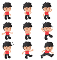 Man Cartoon Emotion Character Set vector image