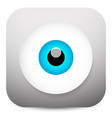 modern eye app icon vector image