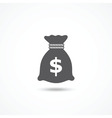 Money bag icon vector image vector image