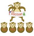 monkey discount vector image vector image