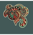 Ornate floral texture with ornaments and curls vector image vector image