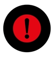 Problem flat intensive red and black colors round vector image vector image